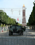 Army of Tunisia in Square of Tunisia. Stock Photo