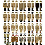Army Uniforms in Poland 1939-45 Stock Photos