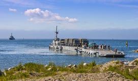Army Utility Boat. US Army Marines Disembarking in Paldiski, Estonia. Photo taken 14.06.2012 royalty free stock photos