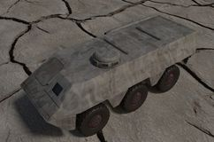 Army vehicle solo Royalty Free Stock Photos