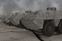 Army vehicles. This is army vehicles that awaiting orders Royalty Free Stock Image