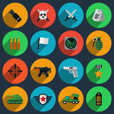Army and war icons Stock Images