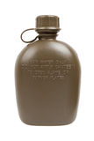 Army water canteen isolated Stock Photography