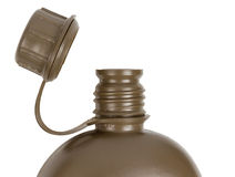Army water canteen isolated Royalty Free Stock Images