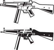 Army weapon. Line style. Vector army weapon. Line style. Set of two Stock Photography