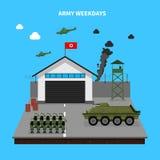 Army Weekdays Illustration Stock Image