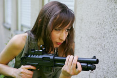 army woman Stock Photos