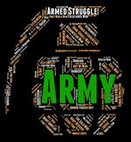 Army Word Represents Defense Forces And Armament Royalty Free Stock Photography