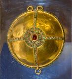 Arnés de los detalles - phalars del pecho 1 ANUNCIO del siglo Oro, almandine, Imagen de archivo