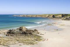 Arnao,西班牙海滩  免版税库存图片