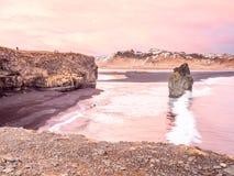 Arnardrangur-Felsen nahe Vik in Island Lizenzfreies Stockbild