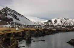 Arnarstapi,冰岛 免版税库存图片