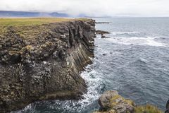 Arnastapi coastal hike to Hellnar, Snaefellsnes, Iceland. Arnastapi coastal hike to Hellnar, Snaefellsnes Iceland royalty free stock photos