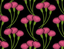 Сarnation seamless pattern. Flower bouquet background. Three Pi Royalty Free Stock Images