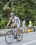 Arnaud Gerard on Col du Tourmalet - Tour de France 2014. Col du Tourmalet, France - July 24,2014: The French cyclist Arnaud Gerard of Team Bretagne-Seche Royalty Free Stock Images