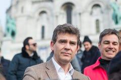 Arnaud Montebourg stützt machte in Frankreich Lizenzfreie Stockfotos