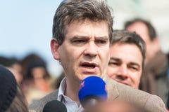 Arnaud Montebourg steunt Gemaakt in Frankrijk Stock Foto