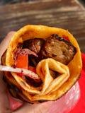 Arnavut Cigeri/αλβανικό σκληρό σιτάρι Shawarma Kebab συκωτιού Στοκ Εικόνες