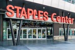 Arène Entrace de Staples Center Image libre de droits