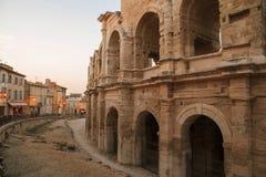 Arène et Roman Amphitheatre Photo stock