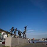 Arne Maeland`s `Livet, leiken og draumane` sculpture in Solheimsviken, Bergen, Norway Stock Images