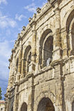 Arène romaine dans la ville de Nîmes Photo stock