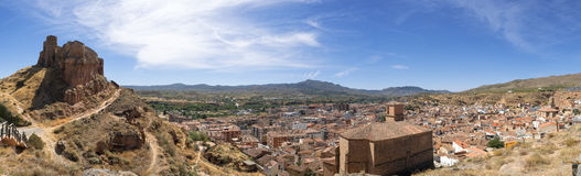 Arnedo panoramic view. Royalty Free Stock Photos