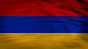 Arnenia geanimeerde vlag stock footage
