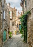 Arnese, oude en mooie dorp in de Provincie van Viterbo, Lazio, Italië stock foto