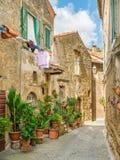 Arnese, oude en mooie dorp in de Provincie van Viterbo, Lazio, Italië stock afbeeldingen
