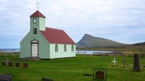 Arneskirkja, una delle molte chiese islandesi Fotografia Stock