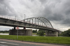 Arnhem bridge - John Frost bridge Royalty Free Stock Photo
