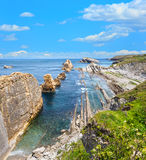 Arnia Beach coastline landscape. Royalty Free Stock Photo
