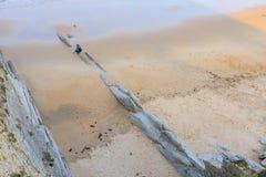Arnia-Strand, Kantabrien, Spanien stockbilder