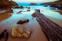 Arnia-Strand, magischer Strand stockfoto