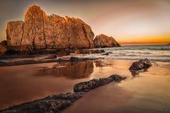 Arnia-Strand, magischer Strand lizenzfreie stockbilder