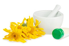 Arnica with tube Stock Photo