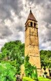 Arnira Klocka torn - splittring, Dalmatia, Kroatien Fotografering för Bildbyråer