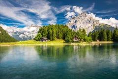 Arnisee met Zwitserse Alpen E stock fotografie