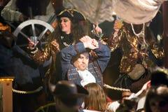 Arnival στην Ισπανία στο χρόνο βραδιού Sitges Στοκ Εικόνες