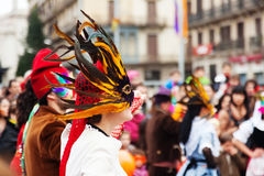 Arnival Balls to Popular Culture and Traditional Catalan Royalty Free Stock Photos