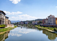 Arno. Beautiful view of Arno river, at Florence, Italy royalty free stock photo