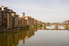 Arno Bridge and Buildings Royalty Free Stock Images