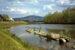 Arno flod Fotografering för Bildbyråer