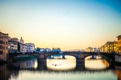 Arno flod Arkivfoto