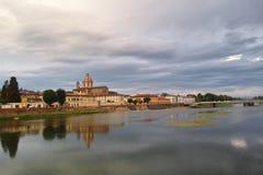 Arno flod Arkivfoton