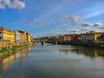 Arno flod Royaltyfri Foto