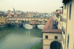 Arno in Florence pastel Stock Image
