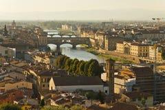 Arno-Fluss stockfoto