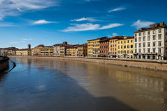 Arno River à Pise, Toscane, Italie Photo libre de droits